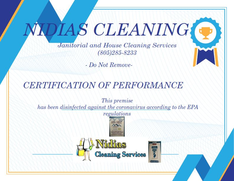 Certification of performance